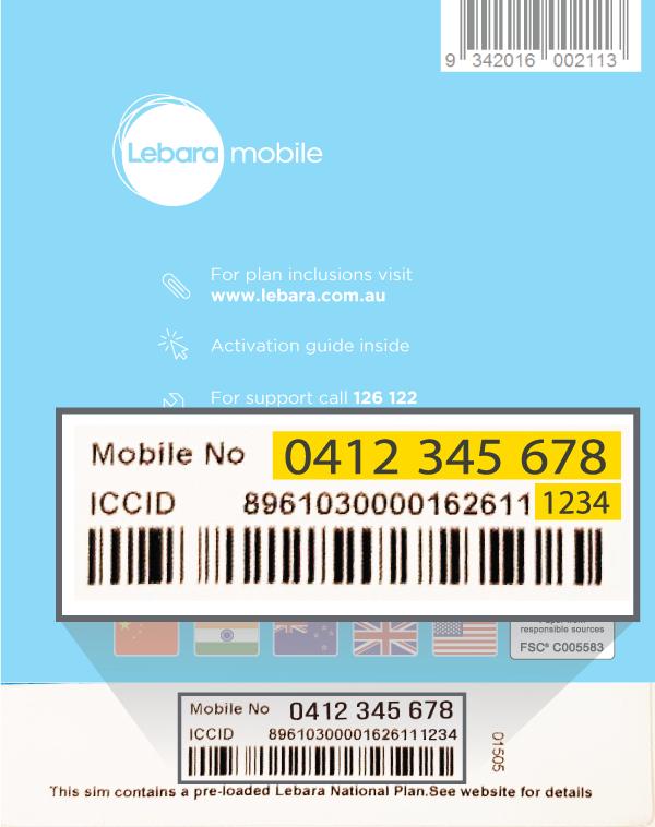 activation carte sim lebara Activate Pre Paid Service